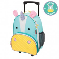 Skip Hop Zoo Little Kid Travel Rolling Luggage Backpack - Unicorn