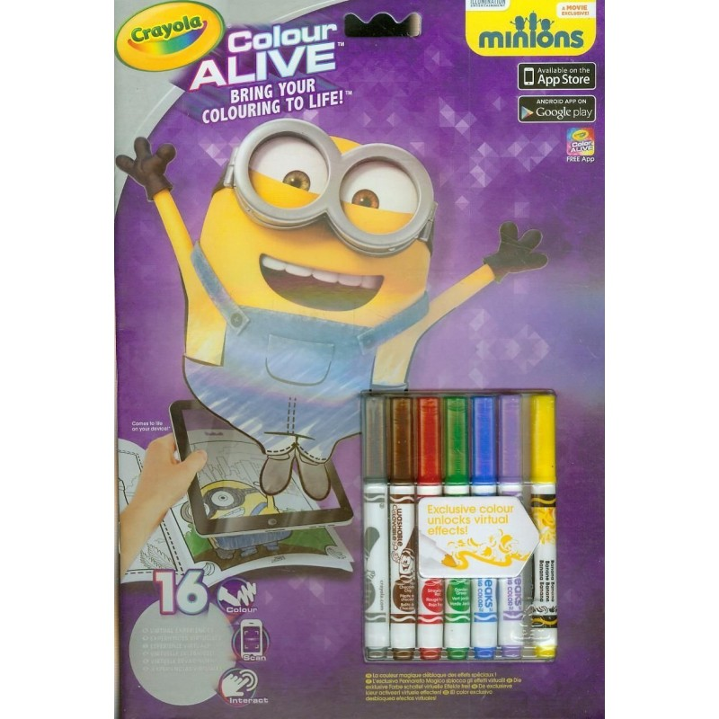 crayola colour alive minions - Crayola Color Alive Pages Minions