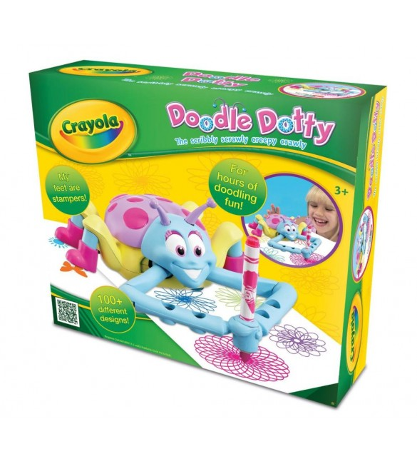Crayola -Doodle Dotty Battery Powered Kids Art Toy With Pens
