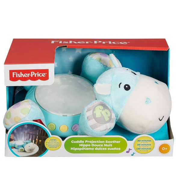 Fisher-Price Hippo Plush Cuddle Projection Soother