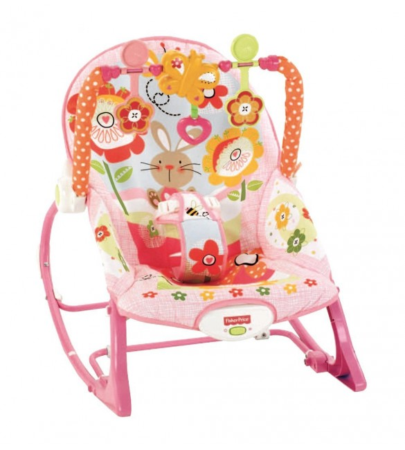 Fisher Price Infant To Toddler Rocker Pink Bunnies