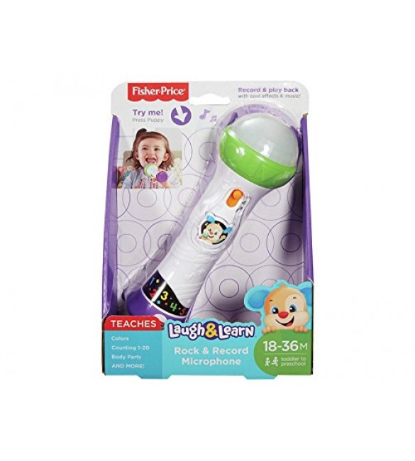 Fisher-Price Laugh and Learn Rock and Record Microphone