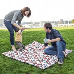 Skip Hop Central Park Blanket & Cooler Bag - Triangles
