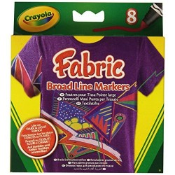 Crayola 8 Bright Fabric Markers