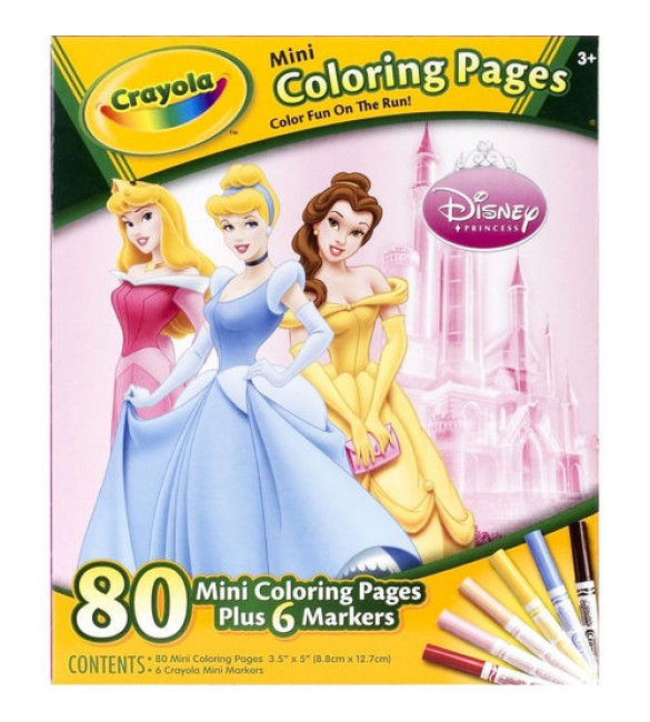 Crayola Mini Colouring Pages - Disney Princess