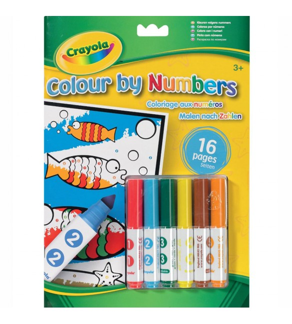 Crayola Colour By Number With Markers