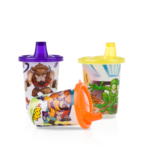 Mighty Action Crew™ Wash or Toss™ Cups By Nuby