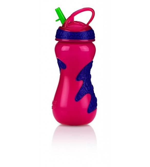 Nuby Flip-It Top Gator Grip Sipper, 15 Ounce