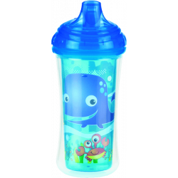 Nuby No-Spill Insulated Clik-It Easy Sip Cup, 9 Ounce