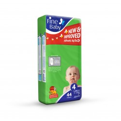 Fine Baby Super Dry - Smart Lock, Large 7-17Kgs, Jumbo Pack