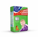 Fine Baby Super Dry - Smart Lock, Size 6 Junior, 22+ Kg, Jumbo Pack, 36 PCS