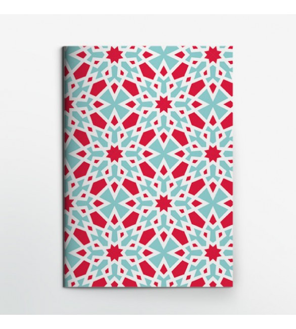 Marble Red Star Notebook