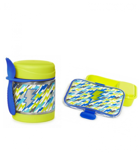 Skip Hop Insulated Food Jar & Lunch Kit - Lightning