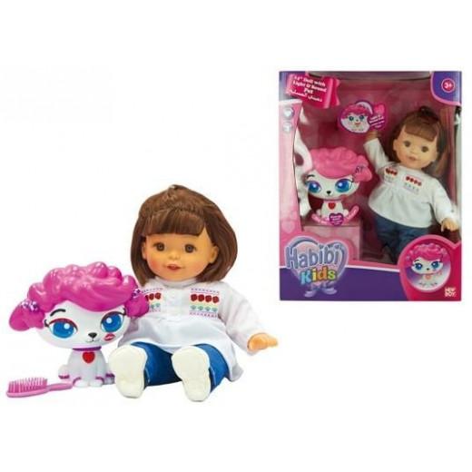 Baby Habibi Kids Lights-Sound Doll With Pet