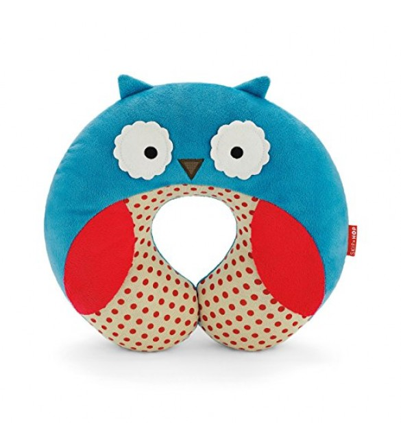 Skip Hop Zoo Little Kid and Toddler Travel Neck Rest, Owl