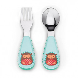Skip Hop Zootensils Fork And Spoon - Hedgehog