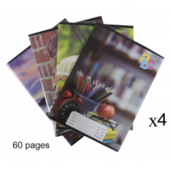 ABC Sleeved notebook English 60 pages x4