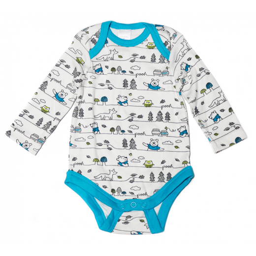 Blue And White Winnie The Pooh Onesie