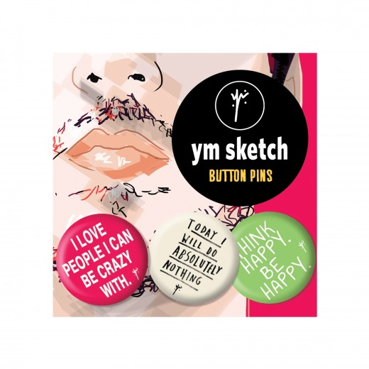3 Ymsketch Button Pin - 4