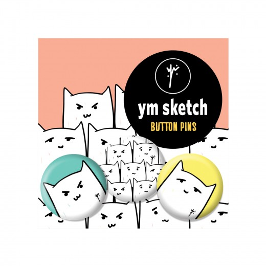 3 Ymsketch Button Pin - 7