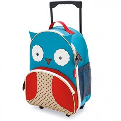 Skip Hop Zoo Little Kid Travel Rolling Luggage Backpack - Owl