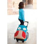 Skip Hop Zoo Little Kid Travel Rolling Luggage Backpack - Owl