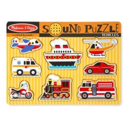 Melissa & Doug Vehicles Sound Puzzle - 8 Pieces
