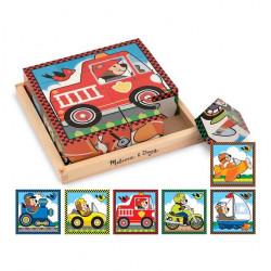 Melissa & Doug Vehicles Cube Puzzle