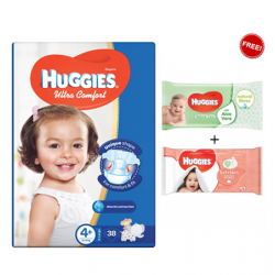 Huggies Jumbo Diapers Size Size (4.5) 1X3 Wipes Offer