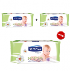 Septona Baby 64 Pure Wipes-Sensitive 2+1Free