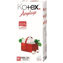 Kotex Anydays Cotton Liner Normal 16X16