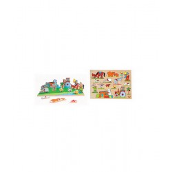 Edu Fun Sided Play Board (Egyptian farm)