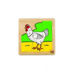 Edu Fun See How They Grow Puzzles (Chicken)