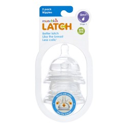 Munchkin Latch Nipples Stage 1 - 2 Pack