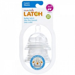 Munchkin Latch Nipples Stage 2 - 2 Pack