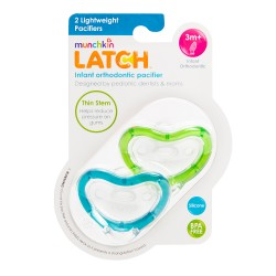 Munchkin LATCH Pacifier 3+ - 2 Pack Blue/Green
