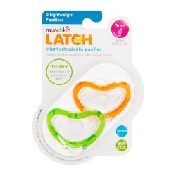 Munchkin Latch Pacifier 3+ - 2 Pack Green/Orange