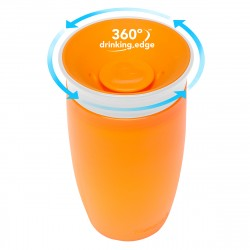 Munchkin Miracle 360° Cup -10oz (Orange/White)