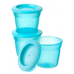 Tommee Tippee Blue 3 Food Pots 4M+