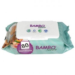 Bambo Nature Wet Wipes x80