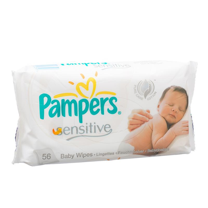 Pampers Baby Wipes Sensitive 56 S Pampers Diapering