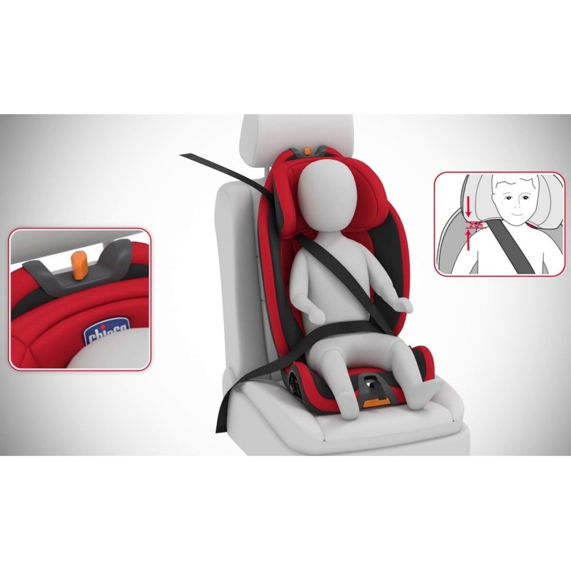 chicco 123 gro up baby car seat red chicco gear. Black Bedroom Furniture Sets. Home Design Ideas