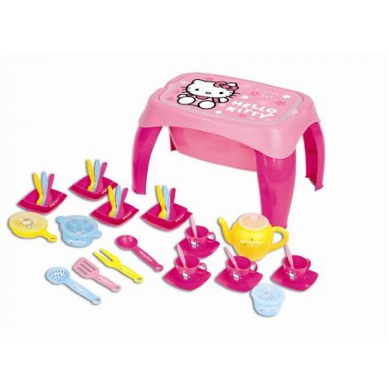 Hello Kitty Wooden Kitchen Set: Dolu Hello Kitty Kitchen Set With Table