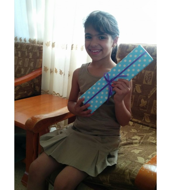 Ruba received her gift from dumyah.com