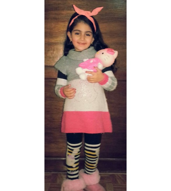 Zeina Is Happy With Hello Kitty