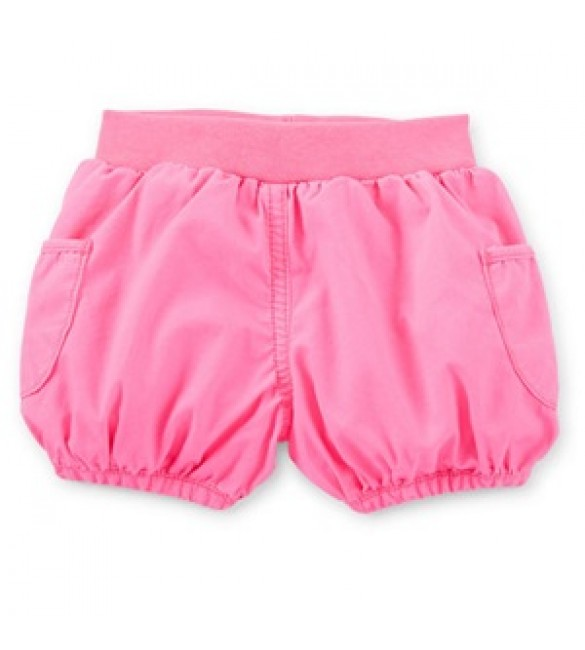 Pink Cotton Bubble Shorts - Back to the Beach, 18 Months
