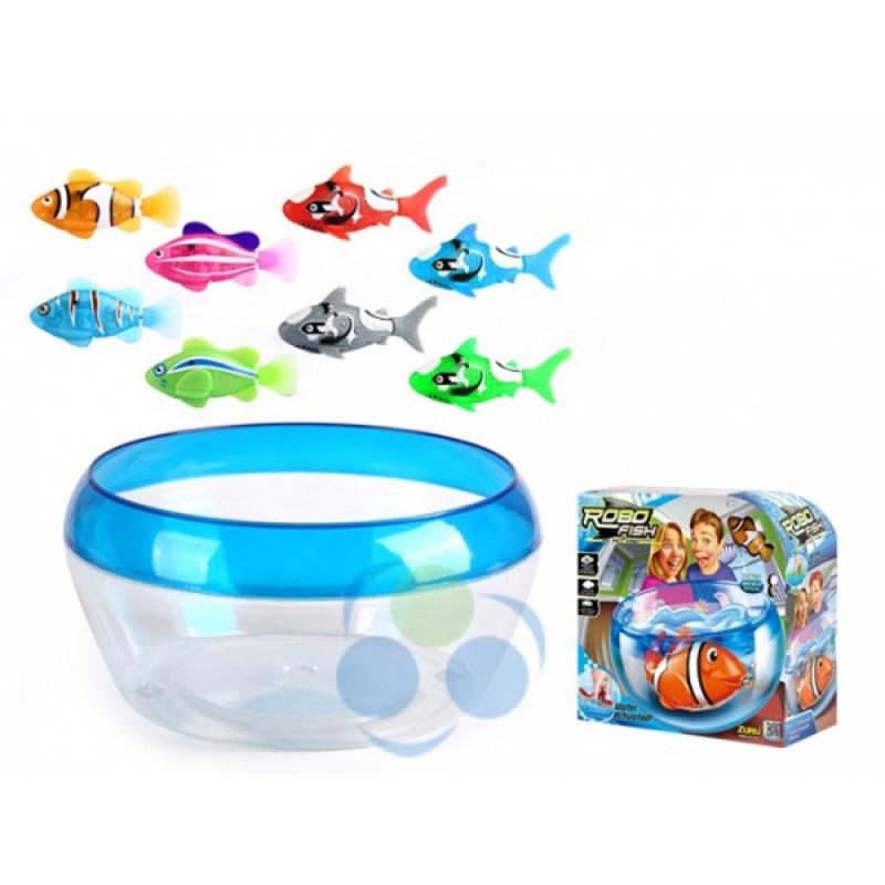 Robo fish aquarium play setrobofish toys figures for Robo fish tank