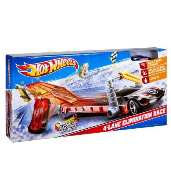 Hot Wheels 4 lane elmination race