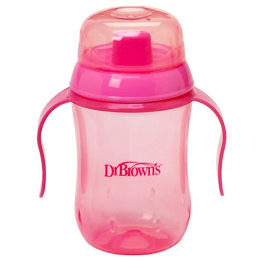 Dr. Brown's Hard Spout Cup 270 ML Pink