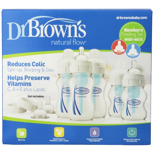 Dr. Brown's Newborn Feeding Set Wide